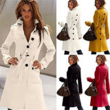 Women's Cashmere Slim Winter Warm Long Trench Coat Wholesale (50230)