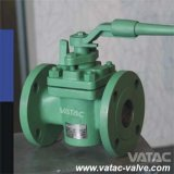 Wcb RF Flange Ends Lubricated Plug Valve with Lever