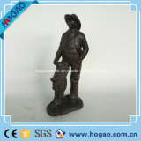 Resin Home Decoration Figurine with Copper Coating