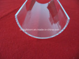 Surface Polishing Transparent Half Round Quartz Glass Plate