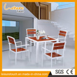 Outdoor Leisure Modern Polywood Aluminum Dining Table and Chair Garden Patio Furniture