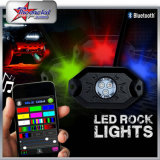 8 Pods 2inch Mini 9W RGB LED Rock Light Remote Control IP68 Under Car Bluetooth LED Rock Light