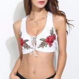 Ladies Fashion Bandage Embroidery Camisole Blouse