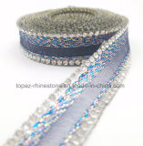 15mm Rhinestones Ribbon Lace Crystal Lace Chain Hotfix Rhinestone Trim for Shoe (TS-024)