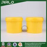 300g 10oz PP Plastic Cosmetic Cream Jar Yellow Color Hair Wax Plastic Jar