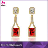 Factory Direct Custom Cheap Wholesale Latest Hanging Earrings with Gemstone