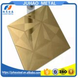 Gold Etching Metal Decoration Stainless Steel Plates 304