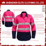 Hi Viz Reflective Safety Cotton Pink Workwear for Women