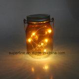 Halloween Mason Jar with Solar Firefly Lights