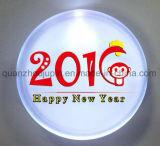 Custom Plastic Luminous LED Pin Badge for Promotional Gift