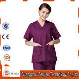 Ladies′ Slim Scrubs of Medical Uniform with Short Sleeve