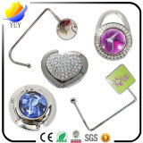 Colorful and Beautiful Metal Zinc Alloy Bag Hook Diamante for Promoyional Gifts