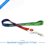 Custom Dye Sublimation Printed Lanyard with Reel Badge