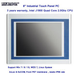 support Linux system fanless 8 inch industrial touch panel PC