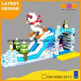 New Design Kindergarten Inflatable Jumper Toy Polar Bear Slide Winter Inflatable Penguin Park (AQ01751)