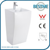 Popular Design Best Price Modern Design Nano Ceramic 1PC Pedestal Basin