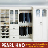 Natural Walk in Closet Design with Shoe Cabinet