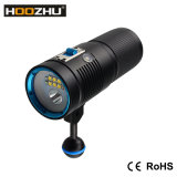 Hoozhu LED Diving Video Torch+Spotlight with Max 4500lm and Watrproof 100m V40d