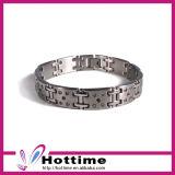 Fashion Jewelry Rhinestone Silver Stainless Steel Bracelet (CP-JS-BL-144)