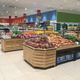 Wooden Supermarket Fruit and Vegetable Display Stand