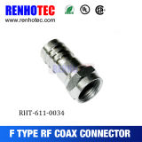 Coax Cable F Connector Plug Straight