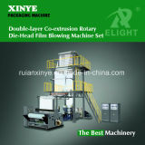Two Layer Film Blowing Machine with Double Winder and Rotary Die Head