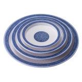 Blue and White Flower Melamine Dinner Plate for Hotel