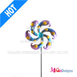 Colorful Metal Yard Stake with Flower Shaped