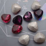 Peach Heart Crystal Fancy Loose Jewelry Rhinestone (DZ3015)