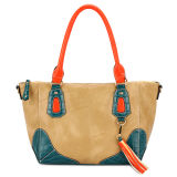 New Popular Contrast Color Crocodile Skin Leather Women Bags (MBNO032063)