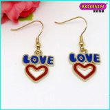 Promotional Custom Fashion Love Hook Gold Earring