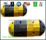 Rubber Speed Hump Yellow-Black Road Safety Product Speed Control Bump