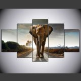 HD Printed Elephant Printed Painting on Canvas Decoration Print Poster Picture Canvas Framed Mc-095