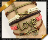 Cross Bracelet, New Arrival Leather Bracelet, Jewelry Fashion Bracelet (FB046)