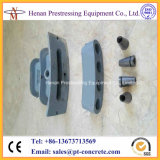 Post Tensioning Stressed End Flat Slab Anchorage Head and Wedges