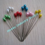 Glittering Decorative Teardrop Shape Plastic Pearl Head Pin