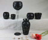 Long Stem Mosaic Glass Tealight Candle Holder