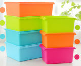 Cheap Plastic Storage Box with Lid for Food, Tools, Clothes