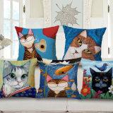 Home Dé Cor Cotton Linen Printed Cushion Cover for Sofa (35C0167)