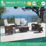 Rattan Relax Chair with Cushion Wicker Weaving Pneumatic Chair Garden Wicker Relax Chair Outdoor Rattan Pneumatic Sofa Patio Sofa Set