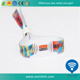 Woven ISO 15693 Ntag213 RFID Fabric Bracelet