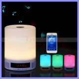 Night Lamp LED Bluetooth TF Mood Light Speaker with Alarm Clock Touch Screen