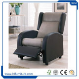 1 Seater Nitaly Leather Fabric Mixed Chaise Lounge Recliner Sofa Set
