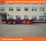 2 Axle Flatbed Semi Trailer