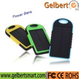 New Portable Waterproof Li-Polymer Battery Solar Power Bank Charger 5000mAh