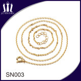 Simple Gold Designs Girls Chain Silver Necklace