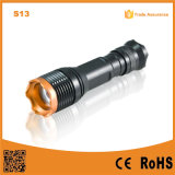 S13 Rotary Zoom in-out Portable Xml T6 LED Black Aluminum Rechargeable Camp LED Flashlight Tactical Torch