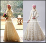 Muslim Wedding Ball Gowns Long Sleeve Lace Bridal Dresses Z5048