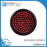 200mm Red Round Aspect LED Traffic Light Signal