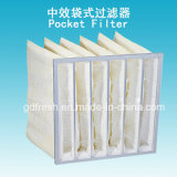 95% Efficiency F8 Nonwoven Fabric Air Pocket Filter